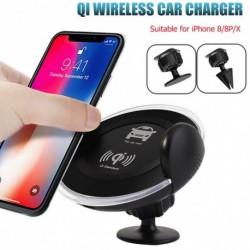1x Qi vezeték nélküli töltő autó töltő telefon tartó iPhone XS Samsung S9 S9