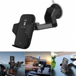 1x 10W Qi vezeték nélküli autós töltőállvány infravörös tartó