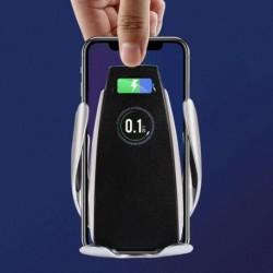 1x Automatikus rögzítés Vezeték nélküli autós töltő Gyors töltő iPhone Samsung