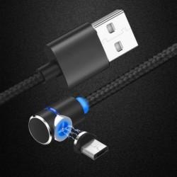 1x Fonott mágneses  USB töltőkábel iPhone Samsung Type-C Micro
