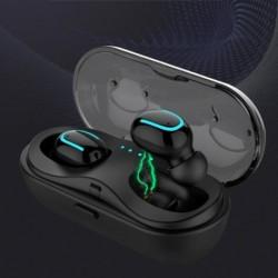 1x Q13S TWS Bluetooth 5.0 mini iker vezeték nélküli sztereó fülhallgató töltő doboz mikrofonnal