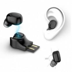1x Hordozható vezeték nélküli Bluetooth fejhallgató autós Bluetooth USB mágneses töltő
