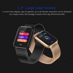 1x óra színes karkötő IP67 vízálló fitnesz vérnyomás oxigén sport karóra nyomkövető Android iOS