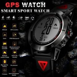 1x Sport óra okosóra Fitness Tracker lépésszámláló IP68 vízálló pulzusmérő iránytű GPS Android IOS