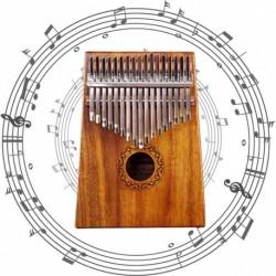 1x akác fából készült 17 billentyűs Zongora Kalimba Mbira Játék Oktatási Játék