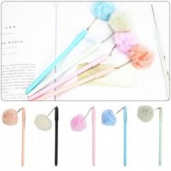Plüss labda pompom végű gél toll zselés toll gyerek diák iskolai írószerek papíráru ajándék