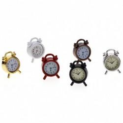 1x 1:12 Dollhouse babaház miniatűr ébresztő óra hálószoba kiegészítők játék