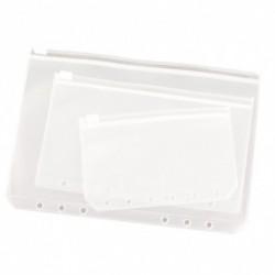 A5  A6  A7 6 lyuk műanyag zipzár beszúrása utántöltő szervező táska tartozék kellék papíráru