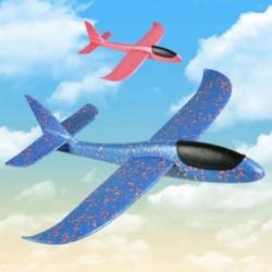 1x Kézi dobó hab repülőgép játék gyerekek szabadtéri szórakoztató játékok nagy méretű könnyű