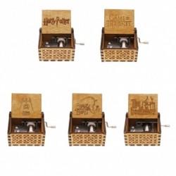 1x Retro különböző karakteres fa kézzel készített zene doboz gyerek ajándék játék
