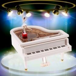 1x Klasszikus nagy táncos balett mechanikus zongoraművészet zene doboz táncoló balerina játék