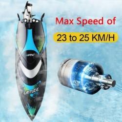 1x JJRC-S3 RC csónak 2,4 GHz-es távirányító nagy sebességű RC elektromos csónak fekete