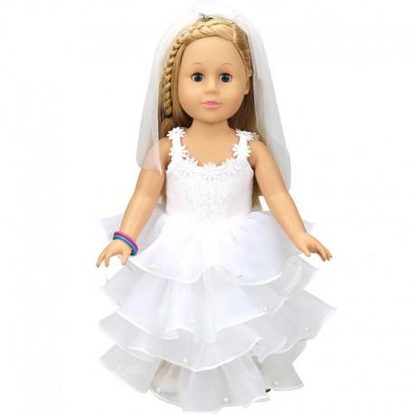 627b00e219e4 1x Baba Ruha Esküvői ruha baba hercegnő ruha 18