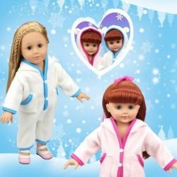 """1db meleg fehérnemű ruházat  18"""" mérteű babához pizsama köntös"""