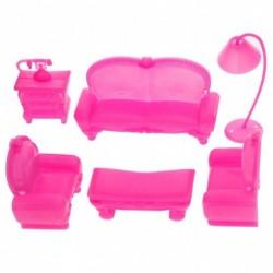 6db baba Otthon kanapé Barbie babaház bútor kiegészítő gyerek játék