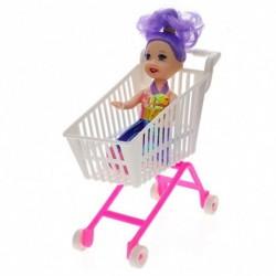 1db Bevásárlókosár Kocsi Barbie Játék Kocsi gyerek játék