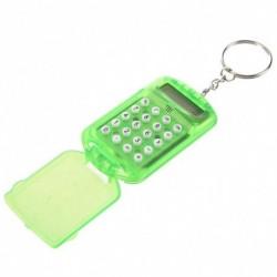 Mini számológép Tiszta zöld műanyag számjegy LCD kijelző kulcstartó hordozható színes