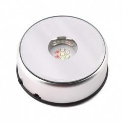 Egyedi kis kerek forgó kristály kijelző alap állvány tartó 7 LED fény