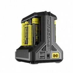 NITECORE i8 intelligens töltő 8 bővítőhely Teljes 4A kimeneti intelligens töltő IMR18650 16340 10440 AA AAA 14500 26650