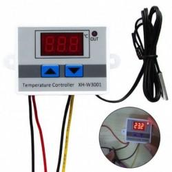 12V / 24V / 220V digitális LED hőmérséklet szabályozó termosztát vezérlő kapcsoló szonda