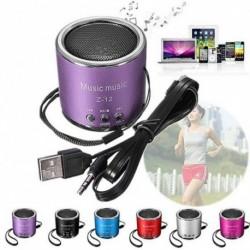 1x Hordozható hangszóró mini hangszóró erősítő FM rádió USB Micro MP3 lejátszó 3 3,5 mm
