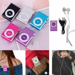 1x MP3 színes mini zenelejátszó Micro TF kártya foglalat USB 2.0 sport kivitelben