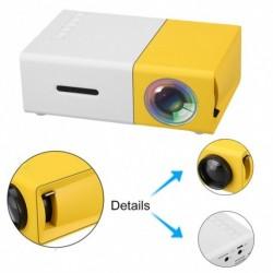 1x Mini projektor HD 1080p AV, USB, SD kártya, HDMI LED házimozi mozi