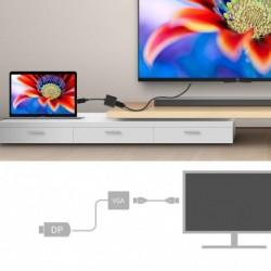 Displayport - VGA adapter megjelenítés  DLLE DP adapterkábel