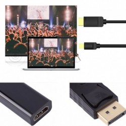 Displayport DP - HDMI Adapter kábel konverter Apple Samsung PC-hez