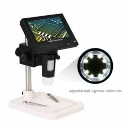 """Hordozható digitális mikroszkóp 1000X 4.3 """"720P nagyító tartó áramköri javító LED LCD kijelző"""