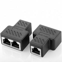1db 1 - 2 kettős női port CAT 5/CAT6 LAN Ethernet hálózat RJ45 Splitter extender csatlakozó adapter