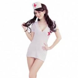 1db Cosplay női szexi fehérnemű nővér ruha szerepjáték jelmez hálóruha
