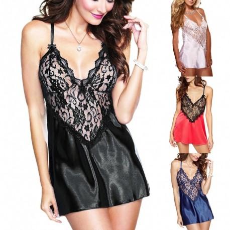 be23f8548 1x Női szexi fehérnemű ruha Babydoll G-string szett csipke éjszakai ruha  hálóing hálóruha
