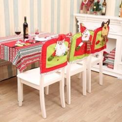 1x Ünnepi Karácsonyi téli otthon lakás dekorációs kellék székhuzat székvédő