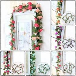 1x Új mesterséges növény műnövény virág művirág otthon kert lakás dekoráció 250cm