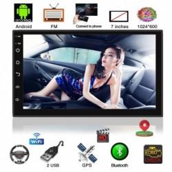 """Universal 2 Din 7 """"Android autórádió Multimédia lejátszó Bluetooth GPS navigáció  Wifi fejegység"""