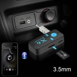 Bluetooth 4.1 Vezeték nélküli USB-vevő audio adapter 3.5 mm-es jack AUX TF kártyaolvasó Mikrofon kihangosító hívás