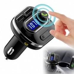 Vezeték nélküli Autó Bluetooth  kihangosító AUX audio vevő FM adapter USB töltő