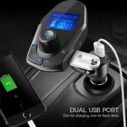 Autó FM vezeték nélküli Bluetooth FM adó rádió töltő kihangosító készlet