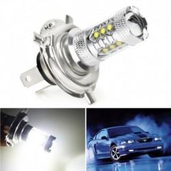1db H4 80W LED-es köd DRL Vezető autó fejlámpa izzó Fehér szuper fényes