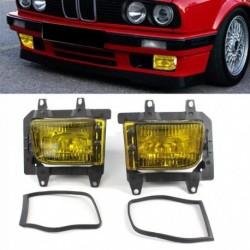 2db  elülső lökhárító tiszta műanyag sárga ködlámpa BMW E30 318i 318is 325i 85-93