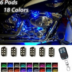 36LED Motorkerékpár Pod Light Ground Effect Kit távvezérlő autó belsőbe is