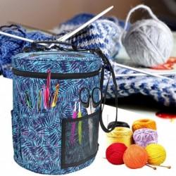 1x tároló táska Szervező tulajdonosa hordozható tok kötés horgolás fonal kotőtű tartó