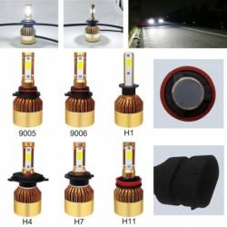 2db H4 / H7 / H11 / 41/9006/9005 72W 16000LM LED fényszóró autó Auto   izzó 6000K fehér
