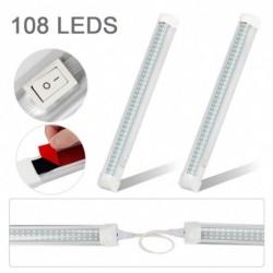 2db 108LED 12V univerzális LED belső fénysáv csík BE / KI kapcsolóval az RV Van teherautó kamionos hajóhoz