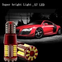 1db T10 57SMD fényes LED-es Canbus  Autó  izzó 3014