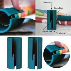 1x Hatékony, könnyen hordozható csomagoló papír vágó dekoratív tekercspapírhoz