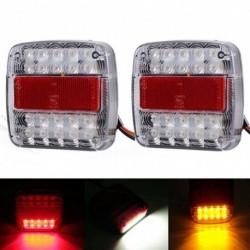 2db 12V / 24V LED-es hátsó lámpa A féklámpa megállítása Világítás Vízálló hajó kocsi