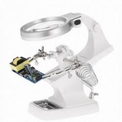 1x LED-lámpa segítő nagyító állomás USB nagyító állvány