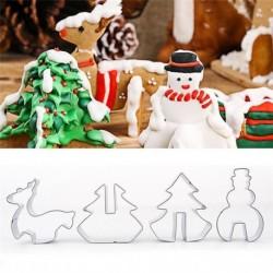 8db rozsdamentes acél karácsonyi szarvas hóember sütemény linzer tészta kiszüró szett